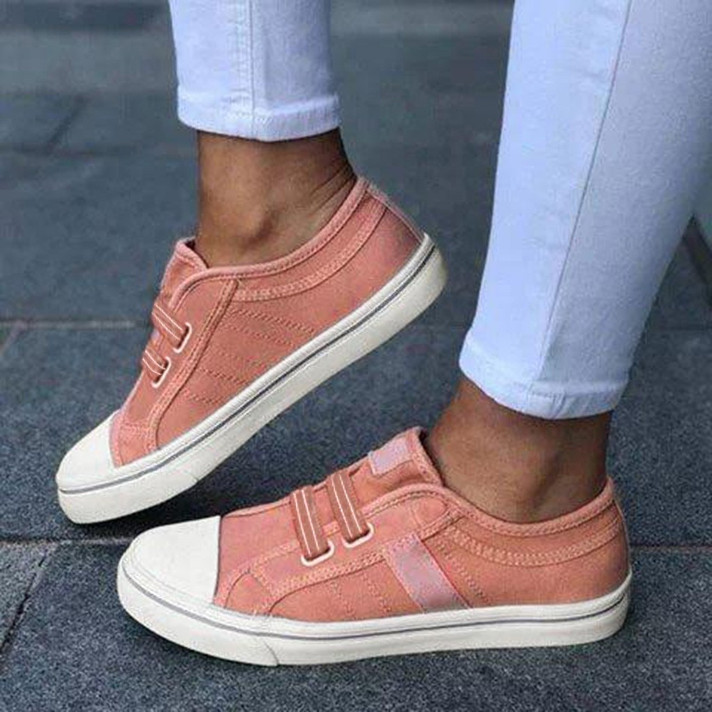 sneakers women's Summer Round Toe Casual Shoes Soft Flat Outdoor Elastic Band Sneakers Plus Size Casual Shoes chaussures femme(China)