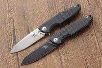 Newest Folding Knife CH 3004 Pocket Knives AUS 8 Blade Carbon Fiber Titanium Handle Camping Knife
