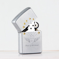 Eternal heart creativity pure copper kerosene windproof lighter 