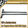 Car-styling For Toyota 2010 Hiace 200 MTS Style Real Carbon Fiber Side Skirt