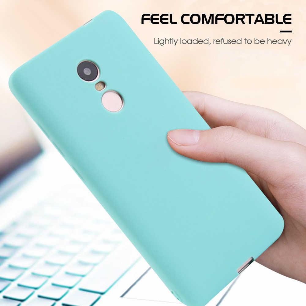 Чехол для телефона для Xiaomi Redmi Note 6 5 Pro Note 7 Чехол для мобильного телефона из силикона ТПУ карамельного цвета чехол для Redmi 6 Pro 5 Plus 6A 5A Примечание 4X Fundas
