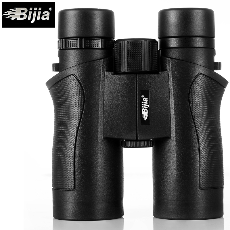 BIJIA 10x42 Binoculars Military HD High Power Telescope Professional Hunting Outdoor Sport Travel Scope Black original binoculars 10x42 high power hd optical lenses mc green film military telescope for hunting outdoor spotting scope