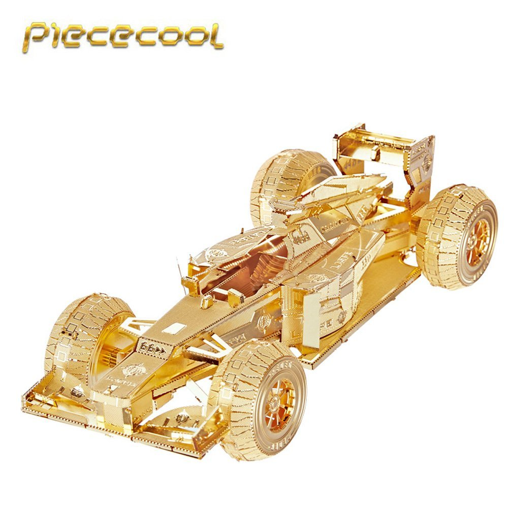 PIECECOOL RACING CAR P052-G/S 3D Metal Assembly Model Jigsaw Puzzle DIY Toys Creative Gift Home Furnishing Collection
