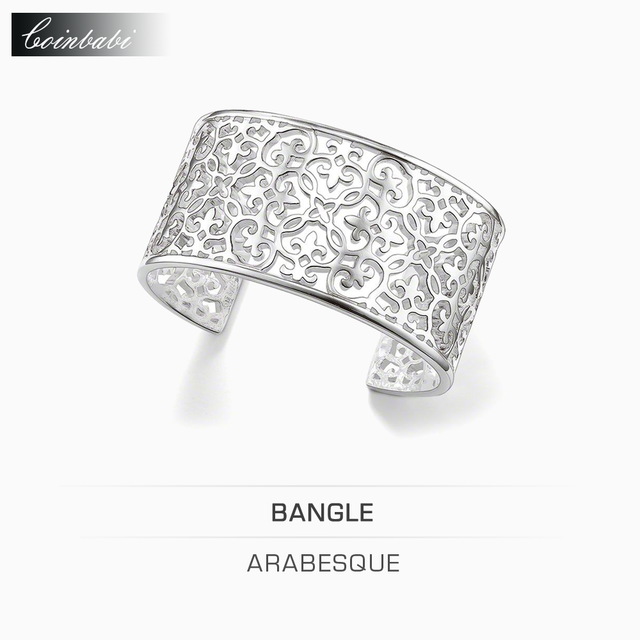 Bangles Arabesque Silver Plated Cuff 925 Sterling Silver For Women Gift Thomas Style Glam Jewelry Bangles Ts Fashion Bracelets