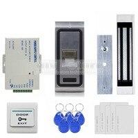 DIYSECUR 180 кг магнитный замок отпечатков пальцев 125 кГц RFID ID Card Reader 2 в 1 двери Система контроля доступа комплект F1