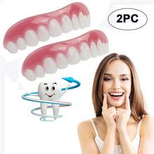 2PC Comfort Fit Flex kosmetyczne zęby protezy zęby Top kosmetyczny uśmiech DROPSHIPPING 2T5T30 tanie tanio Z OCARDIAN Stałe Pokrowce na paszport 123654 Akcesoria podróżne Pokrywa silikonowa Uniwersalna membrana klawiatury Przezroczysta folia z klawiaturą