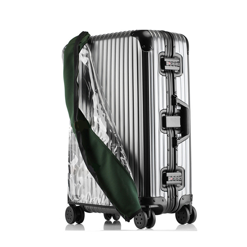 HMUNII PVC Transparent Protective Dust Cover For Luggage Elastic Waterproof Trolley Case Rain Bags Travel Suitcase Accessories