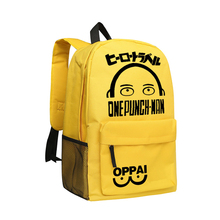 ONE PUNCH MAN Printing Backpack Japan Manga Jump Young School Bags for Boys and Girls Bookbag