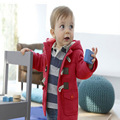 2016 Nueva Capa de La Manera de Los Bebés ropa de Abrigo Chaquetas Para Niños Bebé Niño Niñas Chaqueta de Invierno Cálido Con Capucha Ropa de Los Niños