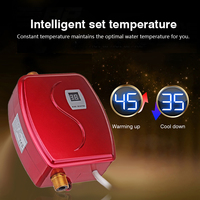3800W Water Heater Mini Tankless Instant Hot Faucet kitchen Heating Thermostat US/EU Plug Intelligent Energy Saving Waterproof