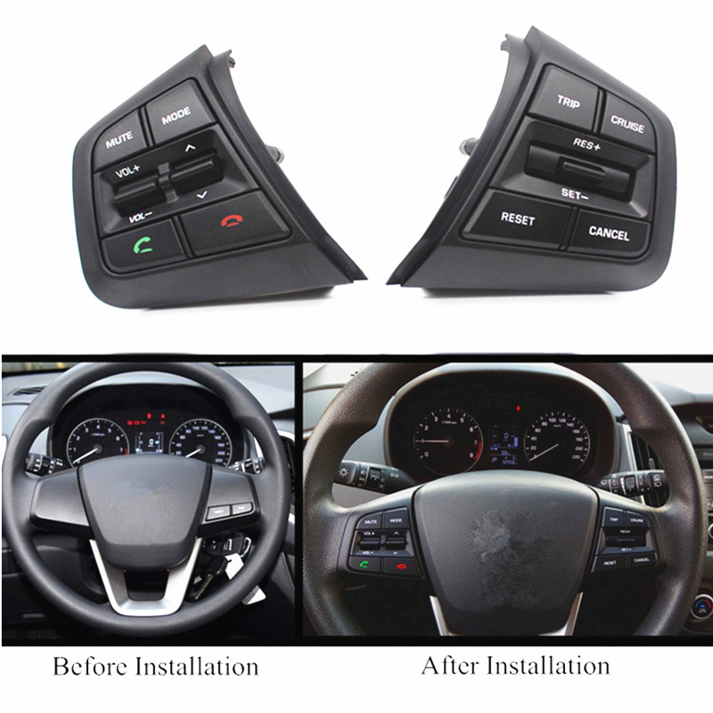 Image 4 - PUFEITE For Hyundai ix25 (creta) 1.6L 2.0L Steering Wheel Cruise Control Buttons Remote Volume button switches car accessories-in Steering Wheels & Steering Wheel Hubs from Automobiles & Motorcycles