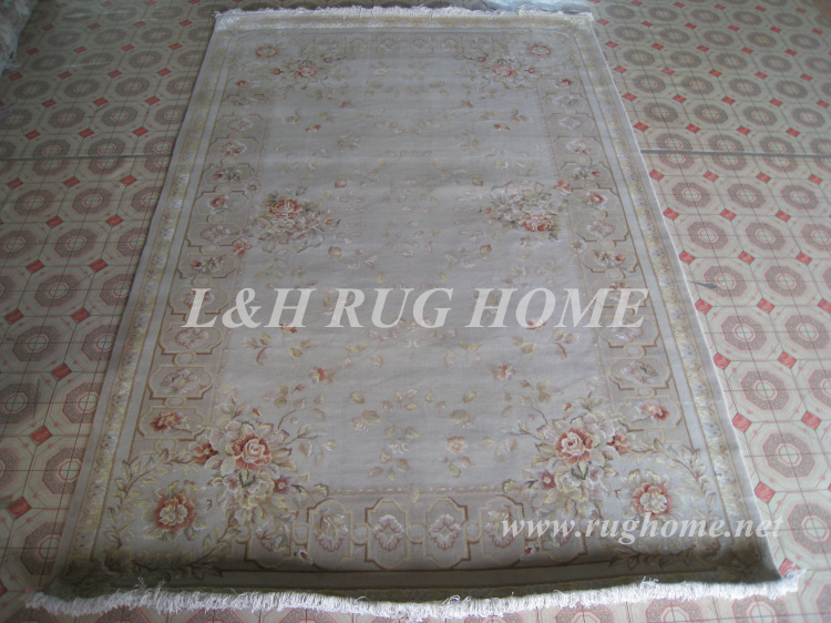 Free shipping 6'X9' 160Line Hand-knotted Persian Rug, Wool and Silk - Home Textile