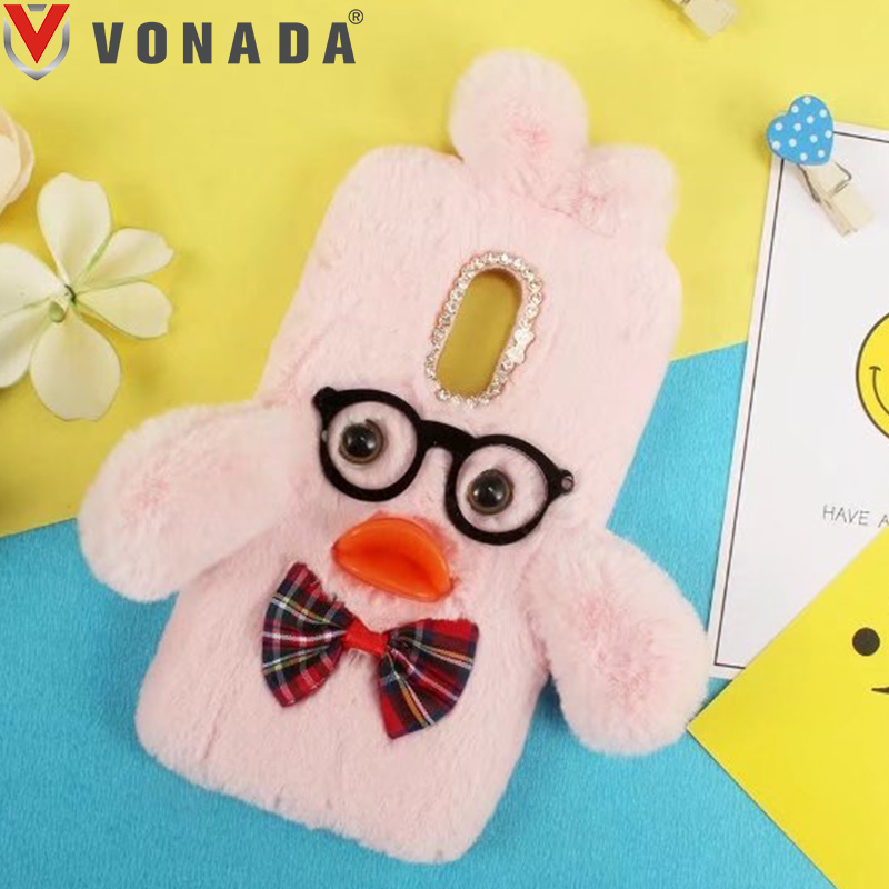 Ambitious Vonada Plush Case For Lenovo K6 Note K3 K4 K8 K5 Note P2 P1m P1 X2 C2 S850 S860 S90 Soft Fur Cute 3d Duck Tpu Diamond Case Cover