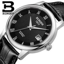 Швейцария БИНГЕР часы мужчины luxury brand Механическая Наручные Часы сапфир полный нержавеющей стали 1 год Гарантия B653-4
