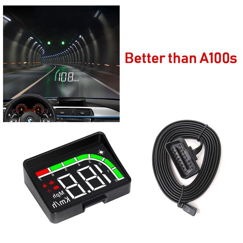 GEYIREN hud Hud Exibição c200 Carro KM/h MPH Auto Eletrônica Melhor Do Que A100s OBD2 brisa Hud exibição Projetor carro 2019