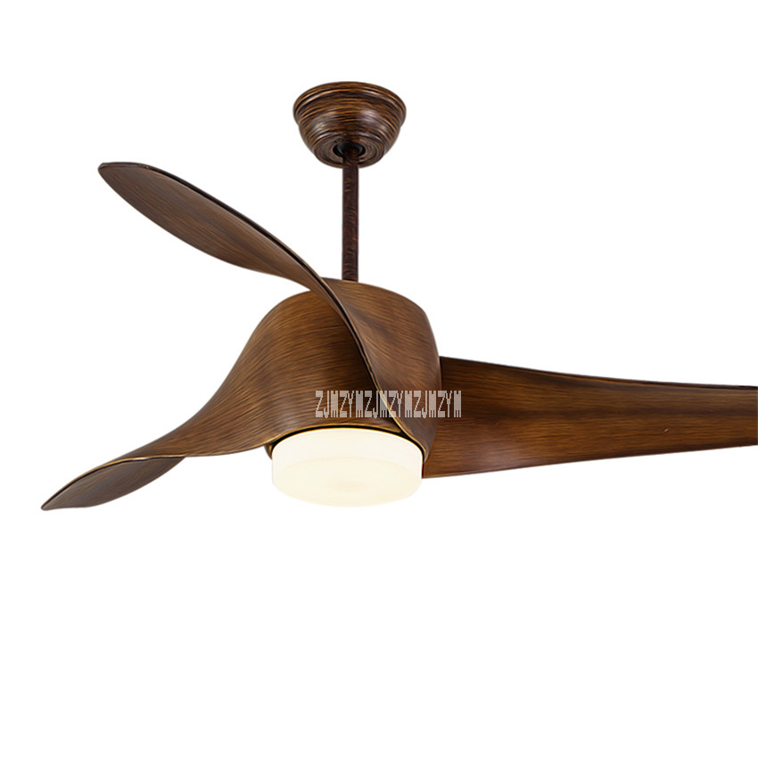 New 52 inch variable frequency modern ceiling fan light for living new 52 inch variable frequency modern ceiling fan light for living room led 110 240v 15 75w with remote control in ceiling fans from lights lighting on aloadofball Image collections