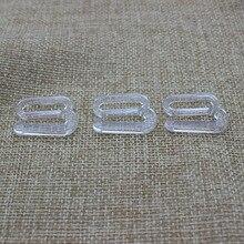 Plastic Transparent buckles for bra underwear garment accessories 18 mm 100 pcs/lot