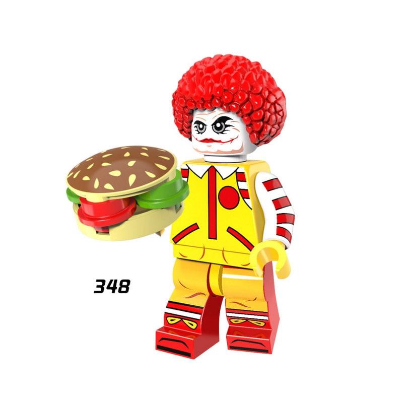 Single Sale Super Heroes Star Wars 348 Ronald McDonalded Model Building Blocks Figure Bricks Toys Gift Compatible Legoed Ninjaed