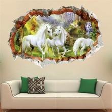 3D Unicorn Removable Wall Sticker