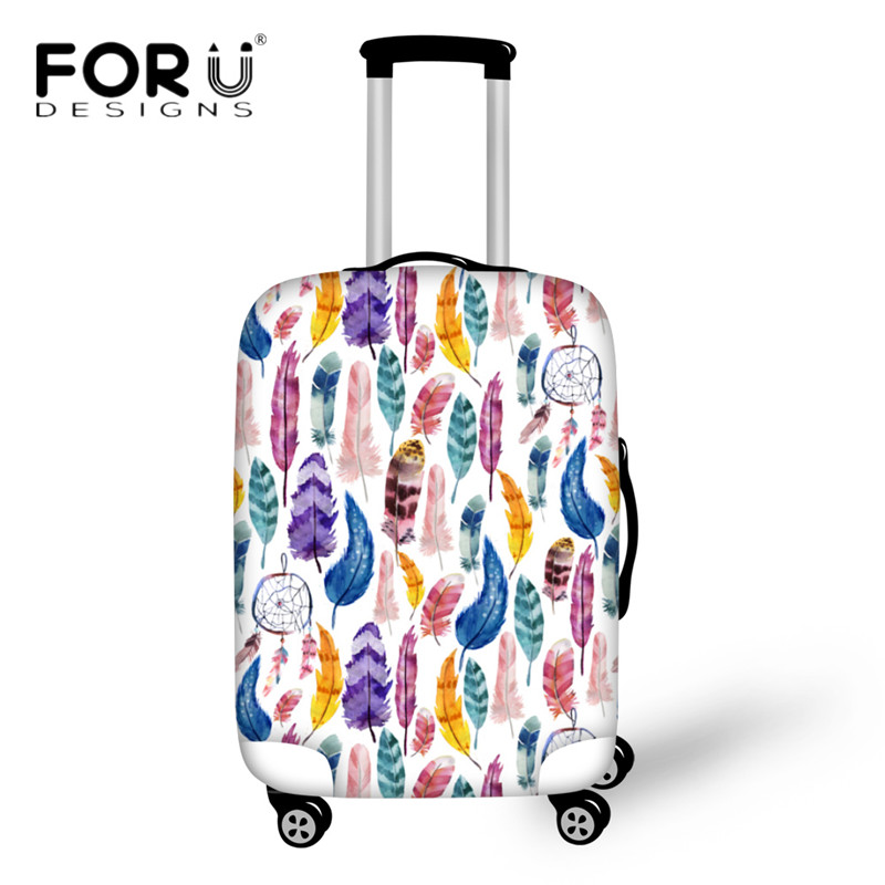 FORUDESIGNS Dream Catcher Print Luggage Protective Covers Suitcase Dust Rain Cover For 18-30 Inch Travel Cases Elastic Thick Bag