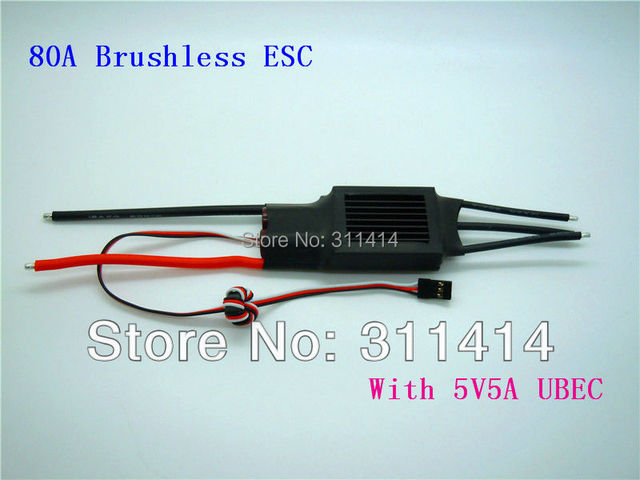 1piece 80A ESC Come With 5A BEC For Brushless Motor RC Model Part Toy Plane Part + Free Shipping High Quality Retail & Drop ship