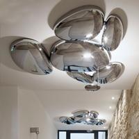 Современные Skydro подвесной светильник Led Mercury подвесной светильник Led Luminaria Блеск Chrome металла для Освещение в гостиную светильники