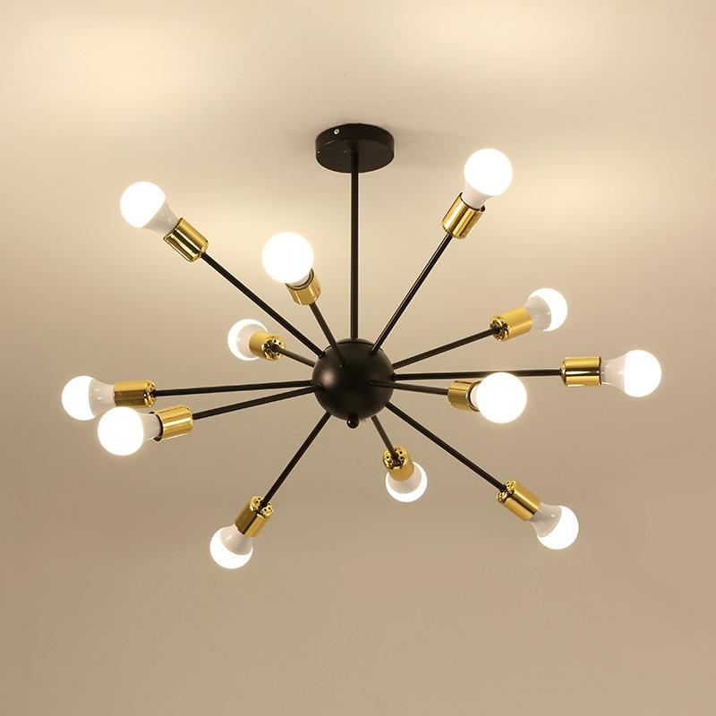 цена на free shipping 12 heads retro loft industrial ceiling lamp dinning room living room lighting home art deco lighting fixture