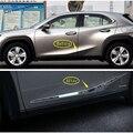 Yimaautotrims наружная дверь Нижняя формовочная полоса для тела стример крышка Накладка подходит для Lexus UX 200 250H 2019 2020 углеродное волокно ABS