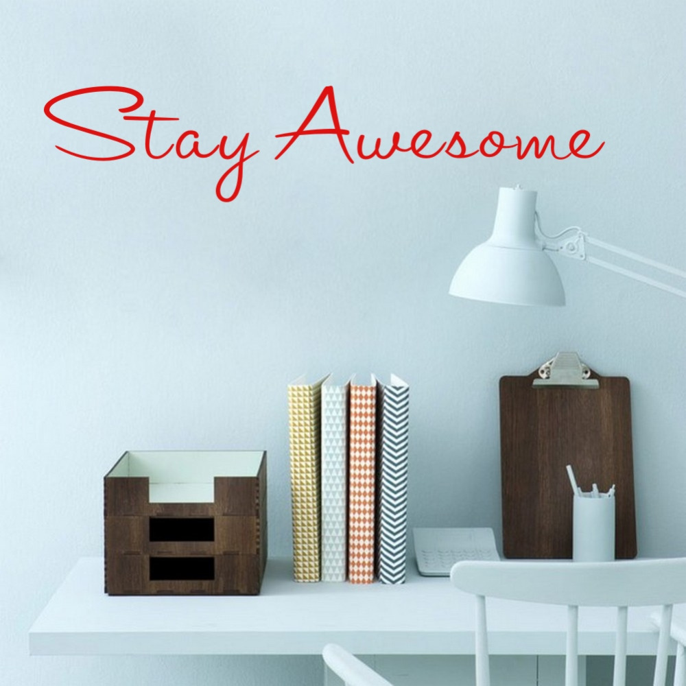Stay Beautiful Gold Curious Vinyl Words Wall Decor Stickers for Home Office Decoration