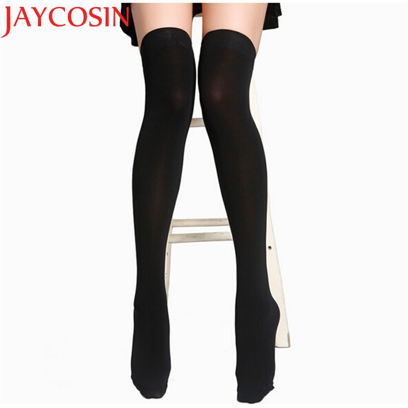 JAYCOSIN New Fashion Women Fashion Over Knee High Temptation Stretch Nylon Socks New Drop Shipping