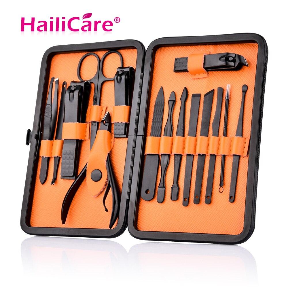 15 En 1 Kit Nail Clipper con caja Nail Care Set pedicura cortadores tijeras pinzas cuchillo profesional manicura herramientas
