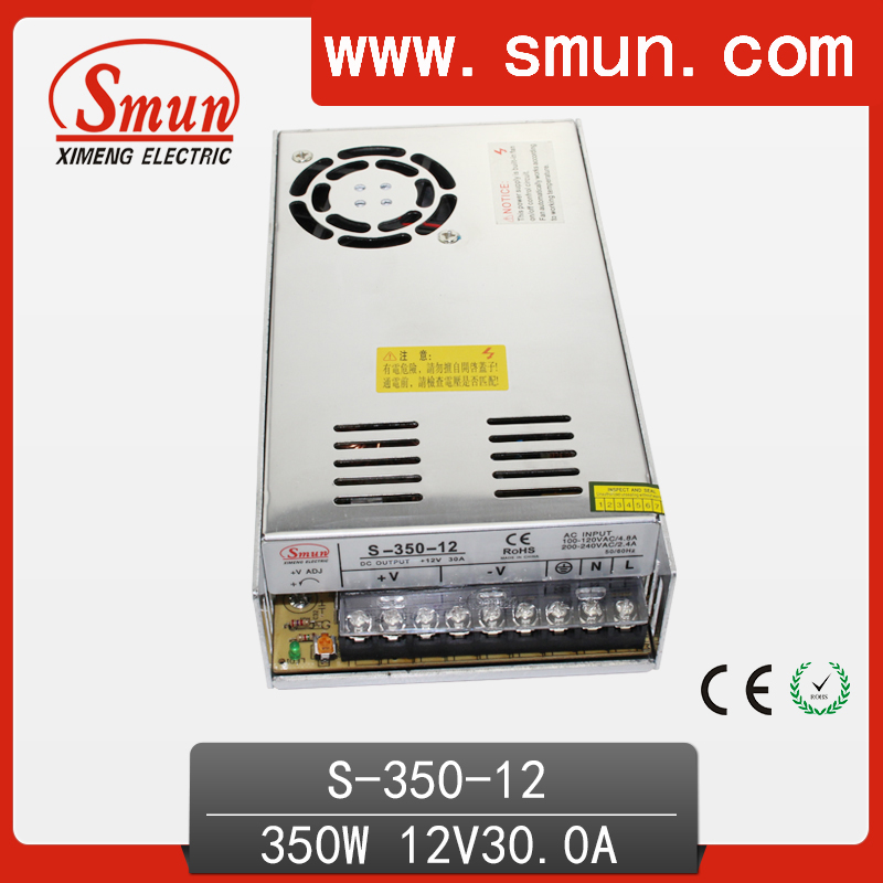 S-350-12 350W 12V 29A Switching Mode Power Supply AC/DC Single Output SMPS With CE RoHS Approved real factory best price s 350 5 single output switching power supply ce rohs approved 5v dc output power supply