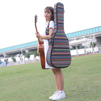 Ethnic Knitting Style 40 Inch / 41 Inch Guitar Bag Waterproof Acoustic Electric Guitar Carry Case Backpack For Guitar