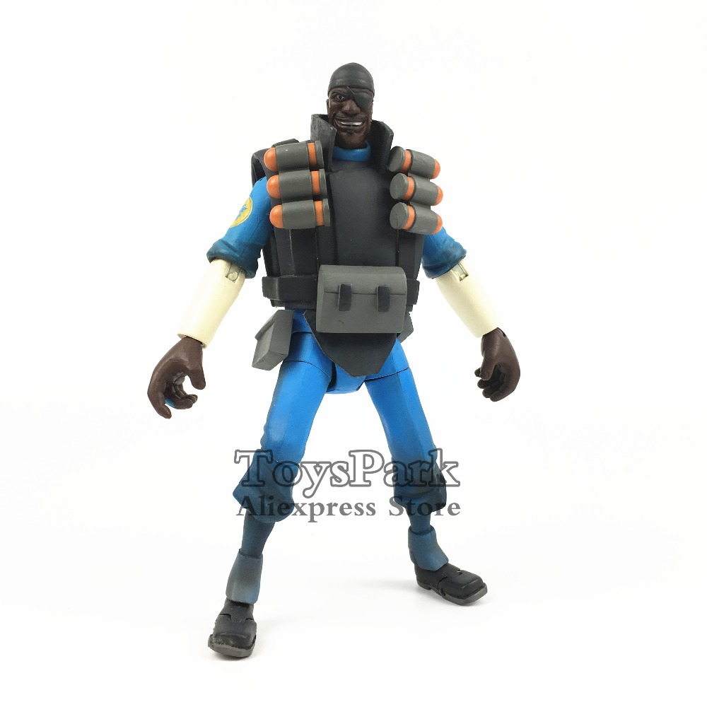 NECA Team Fortress 2 Blue Demoman 7 Action Figure TF2 Game BLU LIMITED Edition Doll Model Second Hand Toys Used OriginalNECA Team Fortress 2 Blue Demoman 7 Action Figure TF2 Game BLU LIMITED Edition Doll Model Second Hand Toys Used Original