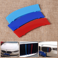 New Arrival High Quality Plastic M Color Sport Front Plastic Kidney Grille Bar Cover For BMW