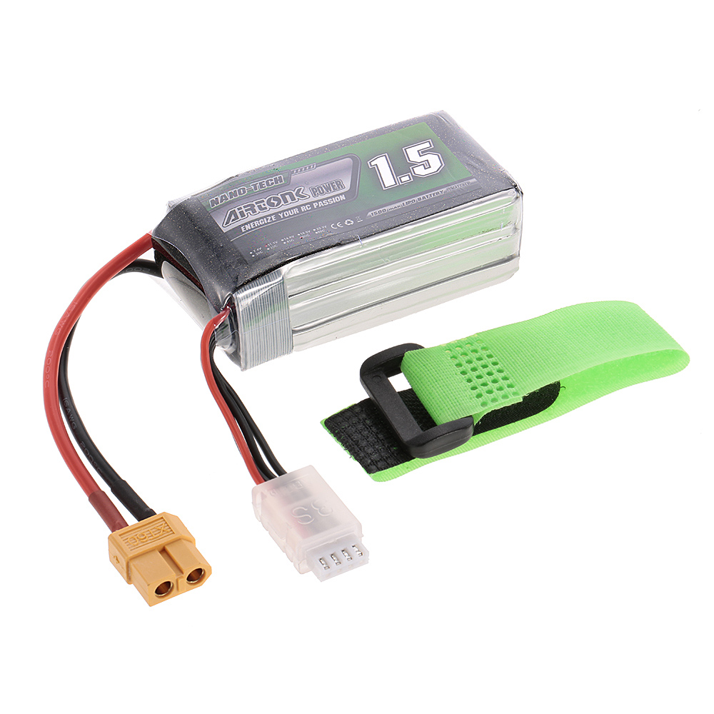 11.1V <font><b>1500mAh</b></font> 1300mAh 1800mAh <font><b>60C</b></font> <font><b>3S</b></font> Rechargeable Li-Po Battery with XT60 T Plug for RC Racing Drone Quadcopter Car Truck image