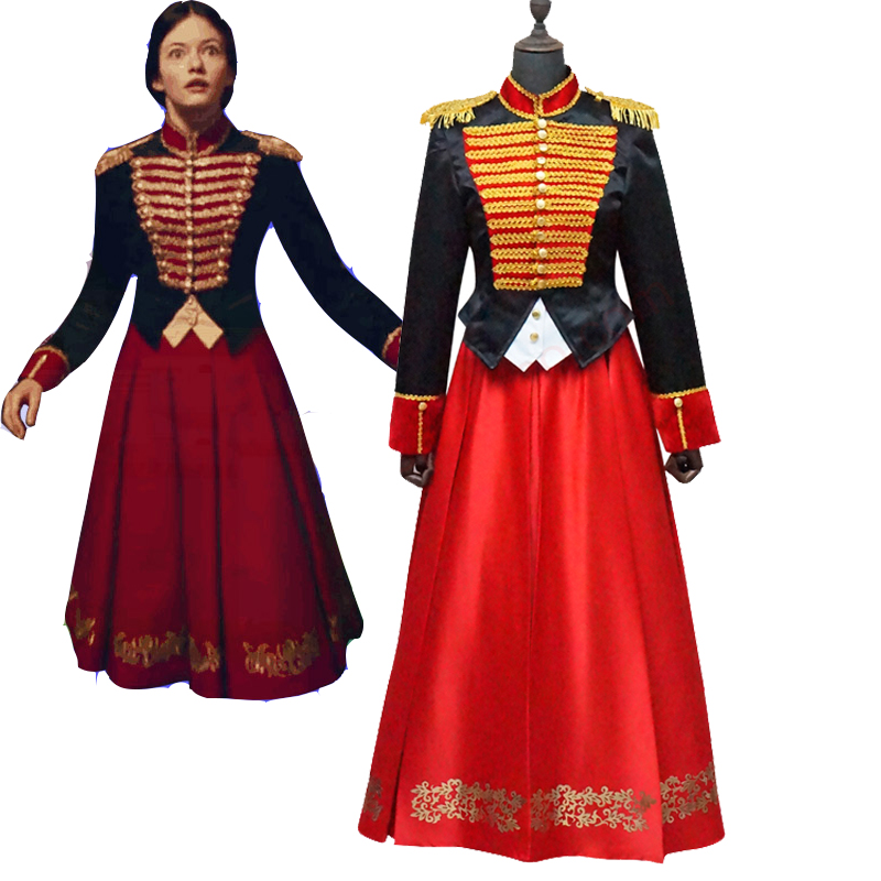 Cosplaydiy The Nutcracker And The Four Realms Clara Cosplay Costume Suit Adult Halloween Velvet Women Soldier Suit L320