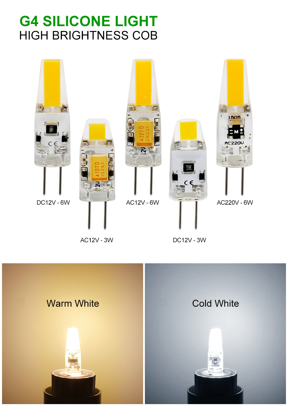 ⑦1 шт. мини G4 светодио дный УДАРА лампы 3 Вт 6 Вт лампа ...