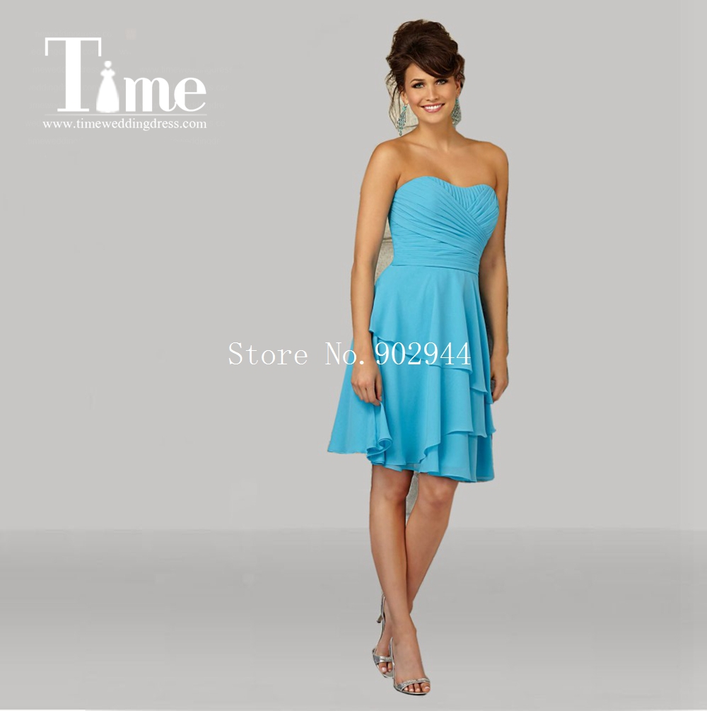 Cheap teal bridesmaid dresses 2015 chiffon sweetheart above knee cheap teal bridesmaid dresses 2015 chiffon sweetheart above knee length pleated maid of honor gowns party graduation gowns in bridesmaid dresses from ombrellifo Gallery