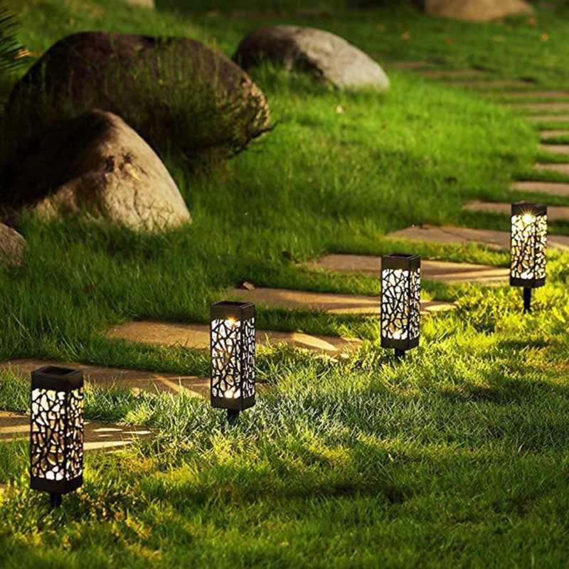 ABS Ip44 Tahan Air Solar LED Bohlam Lampu Taman Beralih Tombol Insert Bawah Tanah Putih/Cahaya Hangat Pemandangan Jalan Dekorasi