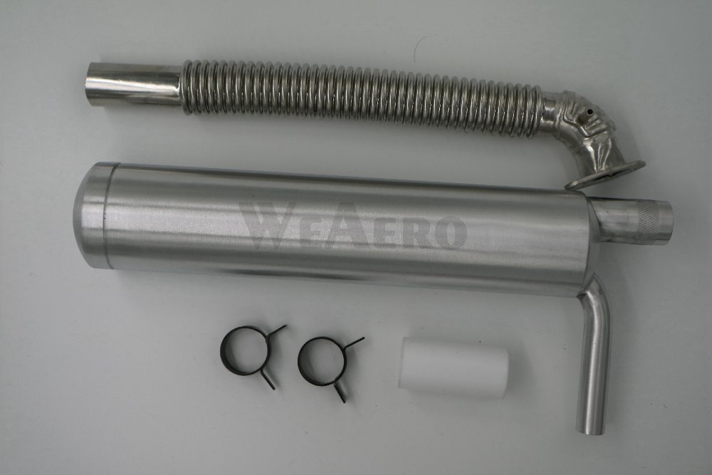 Muffler Canister for 50cc 2 Stroke Scooter