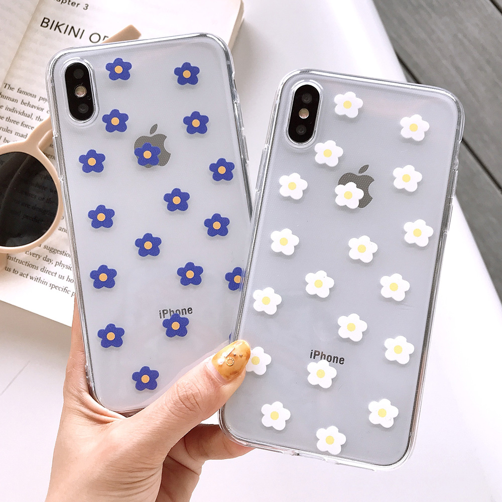 KIPX1117_2_JONSNOW Transparent Flowers Pattern Phone Case for iPhone X XR XS Max 8 Plus 7 6P 6S Cases Soft Silicone Cover Capa Coque Fundas