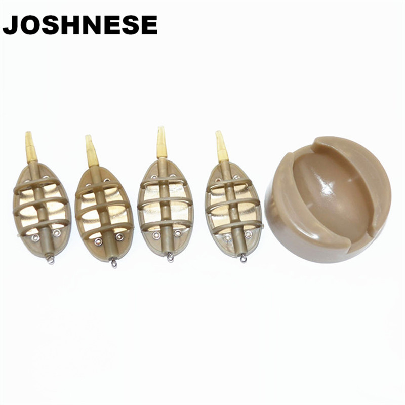 JOSHNESE 1set New Fishing Carp Lead Sinker 15/20/25/35g Lures Bait Fishing Feeder Tow Set Holder Tackle Device Boxes wifreo 30pcs bag soft fake floating tiger nut bait pop ups scorpion carp rig pop up rig big carp fishing tackle s m