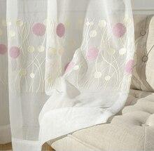 Europäische Weiß Bestickt Voile Vorhänge Schlafzimmer Gardinen für Wohnzimmer Tüll Gardinen/Panels Fenster-screening