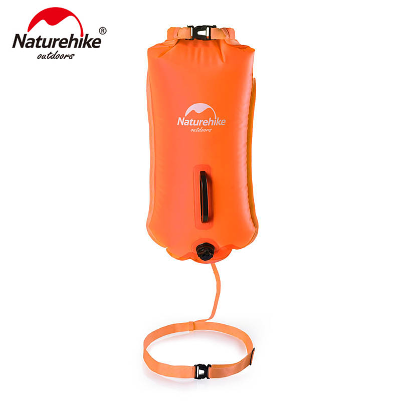 Naturehike 28L Inflatable Waterproof Swimming Bag Swimming Flotation Bag Dry Waterproof Bag For Swimming Drifting NH17S001