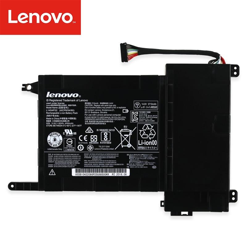 Original Laptop Battery For Lenovo  IdeaPad Y700 Y700-17iSK Series 5B10H22084 L14M4P23 L14S4P22 14.8V 60wh 4050mAh
