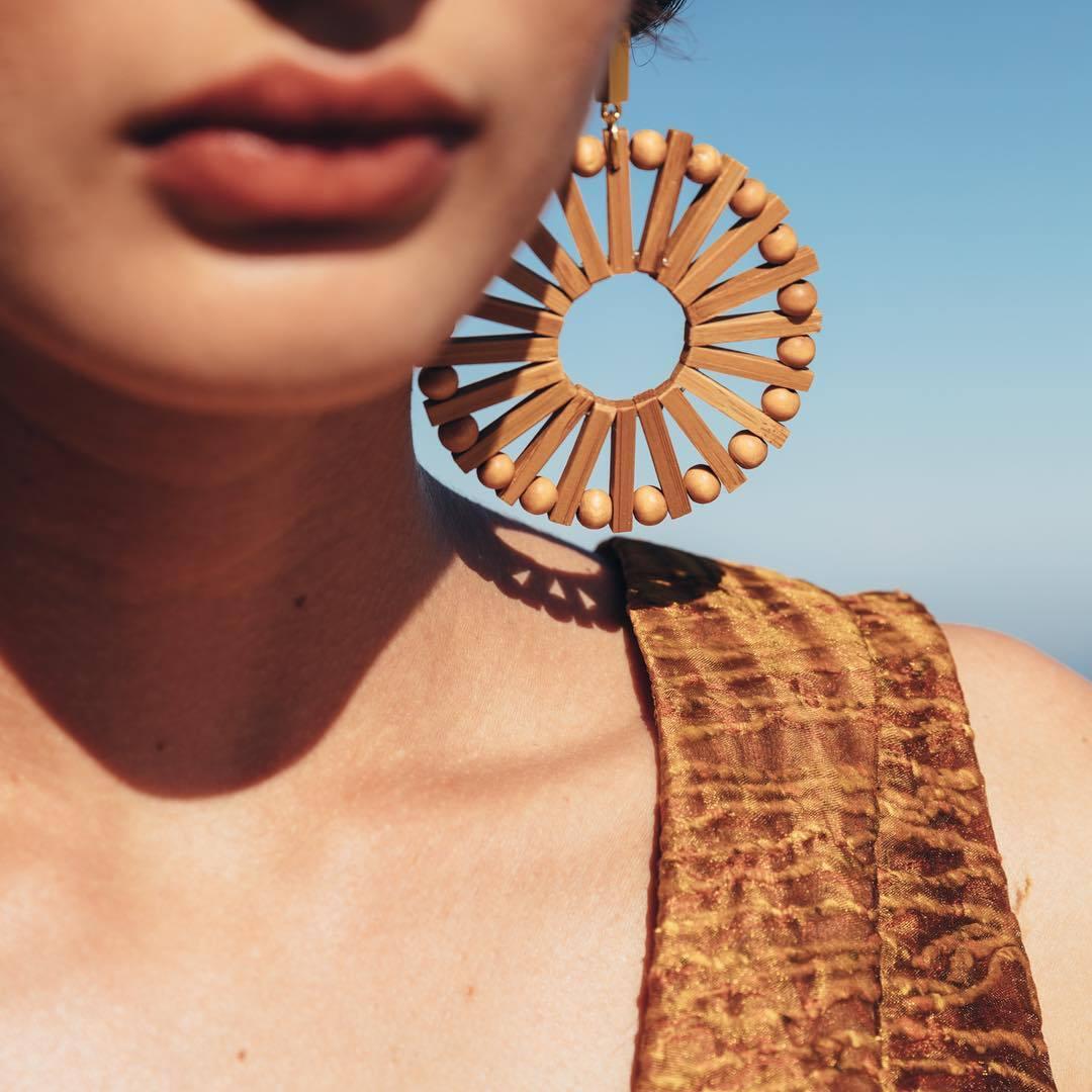 Vintage Ethnic Wooden Big Circle Round Earring for Women Fashion Geometric Handmade Weave Rattan Knit Drop Earring za Jewelry