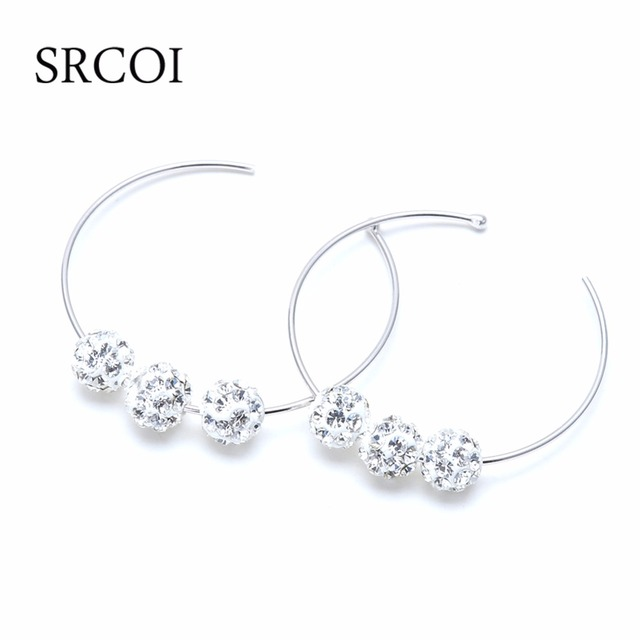 14e69446c Fashion Basketball Wives Earrings Hoops In 925 Sterling Silver  Hypoallergenic Large Round Circle With Rhinestone Hoop Earrings