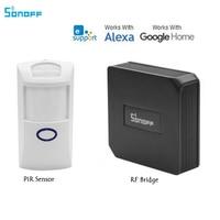 Itead Sonoff PIR PIR2 Alarm Motion Sensor Detect Switch + 433 RF Bridge Converter Wifi Smart Home Switch APP Ewelink Control