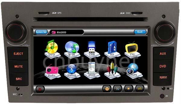 Opel Astra 04-09 GPS Navigation DVD Player,Radio, Audio multimedia player